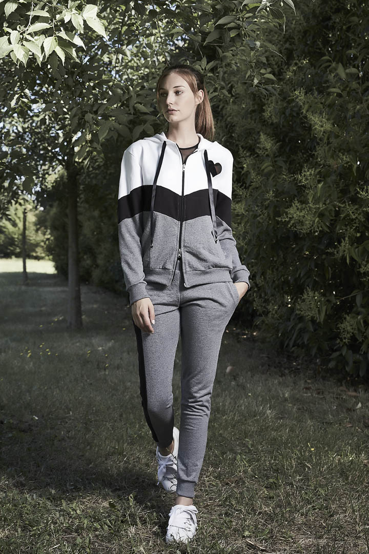 Athletic Club Donna Sporty Chic Tuta Con Zip E Cappuccio