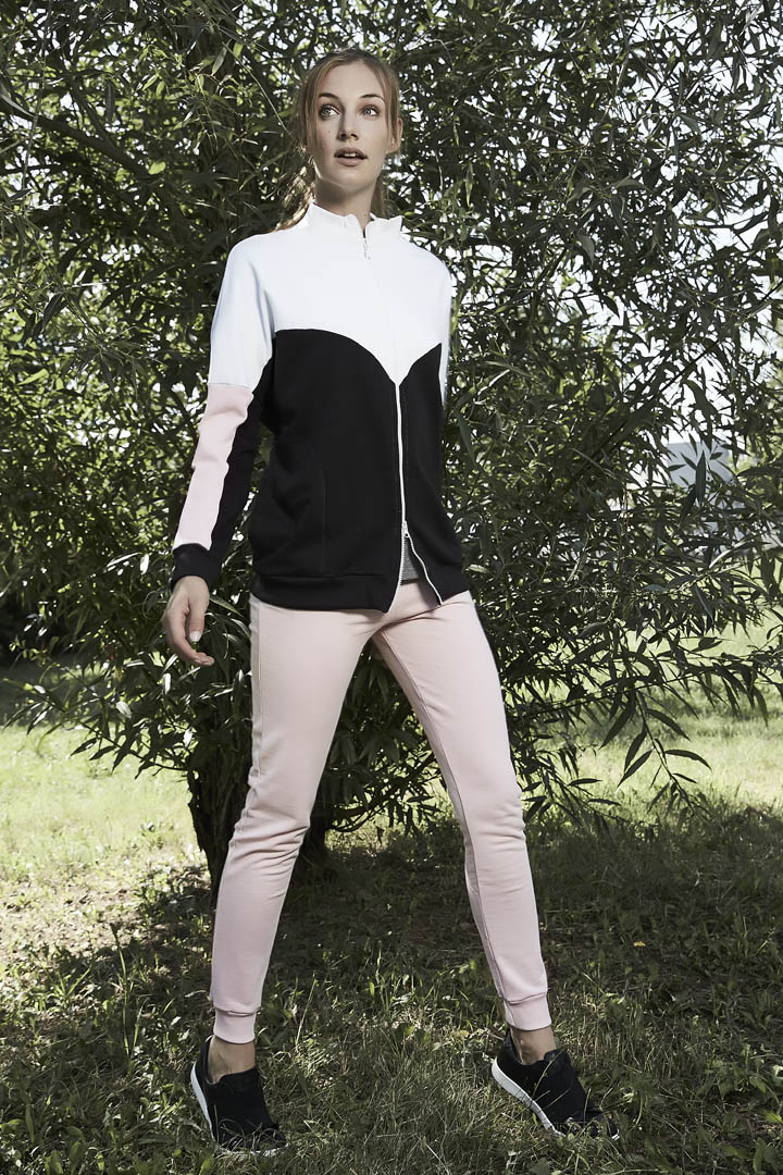 Athletic Club Donna Words Fall Tuta Con Zip E Cappuccio